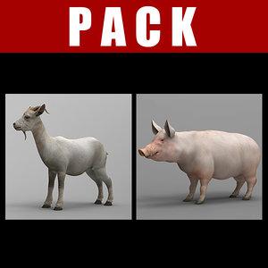 pig goat 3d model