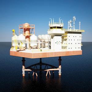 3d model mobile offshore production units