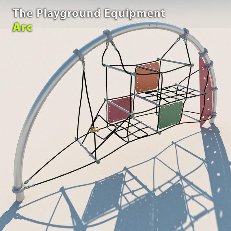 3d playground equipment model