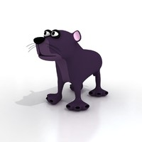 cartoon puma rigged 3d max