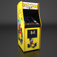 Pac-Man Arcade Low Poly