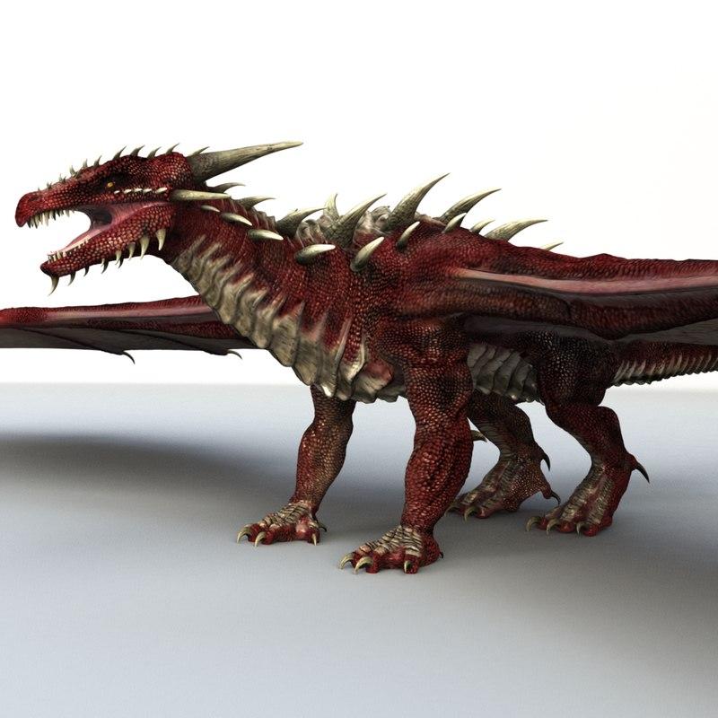 fantasy dragons obj