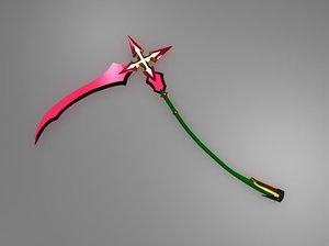 3d marluxia s scythe