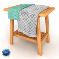 3d rack chair model