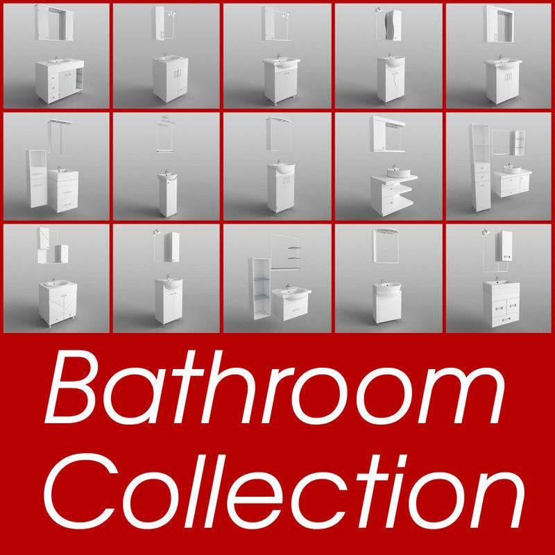 3d bathroom set m model