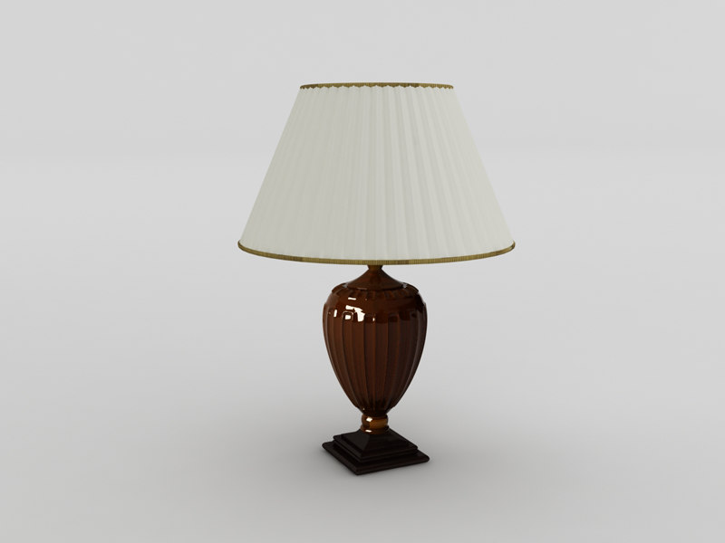 3d villari lampshade lamp model