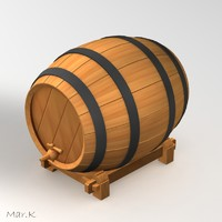 3ds wine barrel