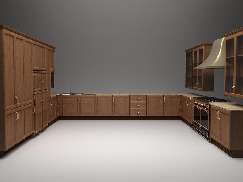 kitchen details 3d model