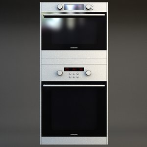 wall oven double 3d model