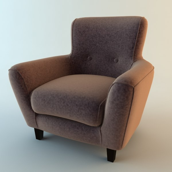 3d model club armchair