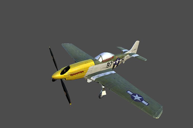3d model p51