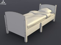 3d model of ateles extendable bed