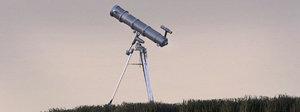 telescope modelled 3d max