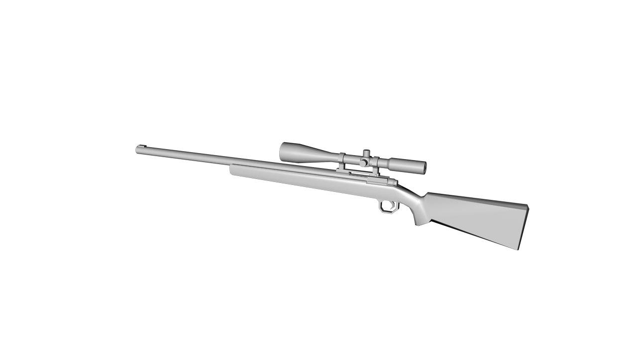 r700 gun 3d obj