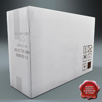 cardboard box v4 3d model