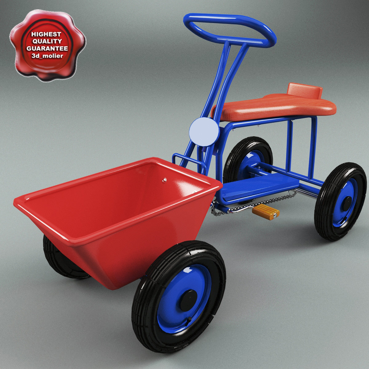children tricycle v3 3d max