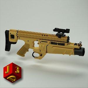 3ds max grenade launcher fn herstal