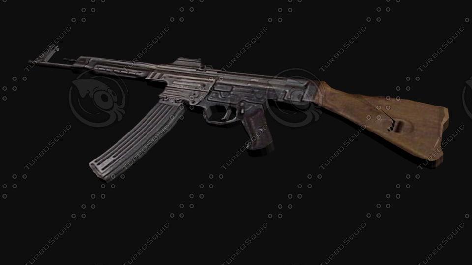 3dsmax stg44 assault rifle