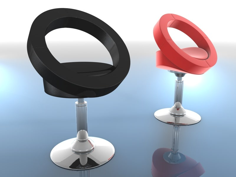 contemporary lounge chair halo 3d max