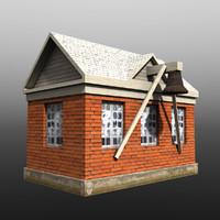 house shed 3d obj