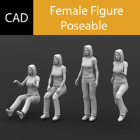 Solidworks CAD Human Female Poseable