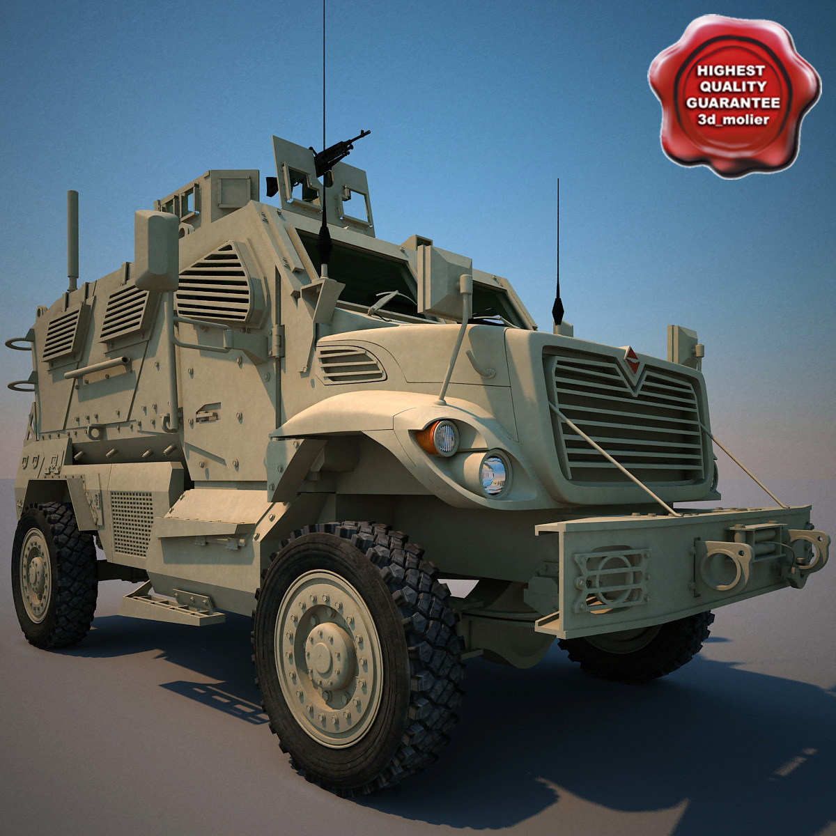 3d c4d maxxpro mrap armoured fighting vehicle