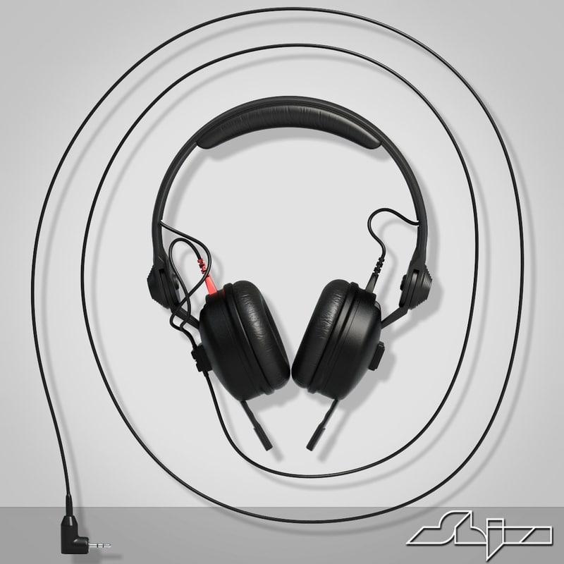 3d headphone sennheiser hd model