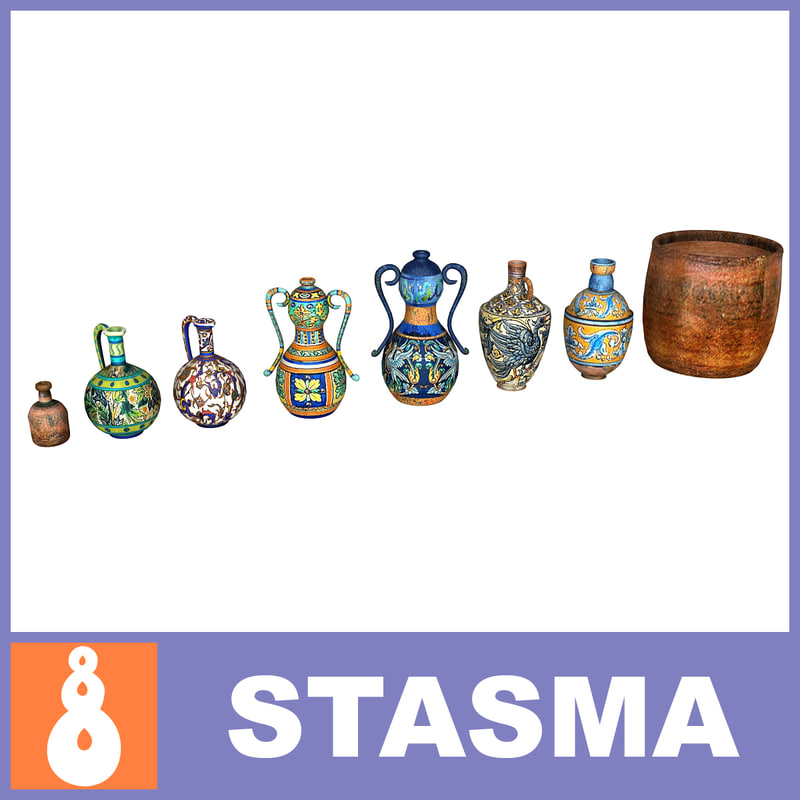 3d model medieval pottery