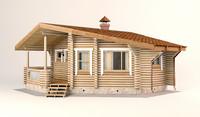 Log House 7.6 x 7.6m