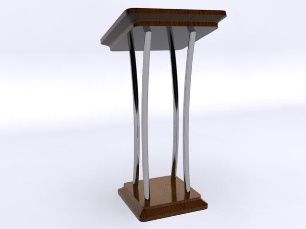 pulpit church 3d model