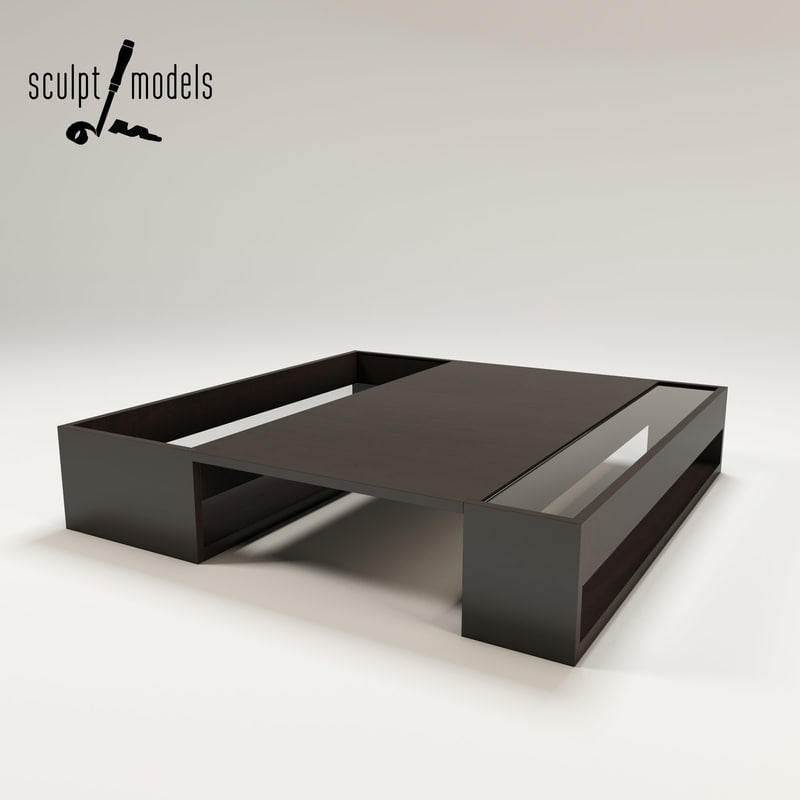 coffee table b italia 3d model