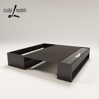 void coffee table b italia 3d model
