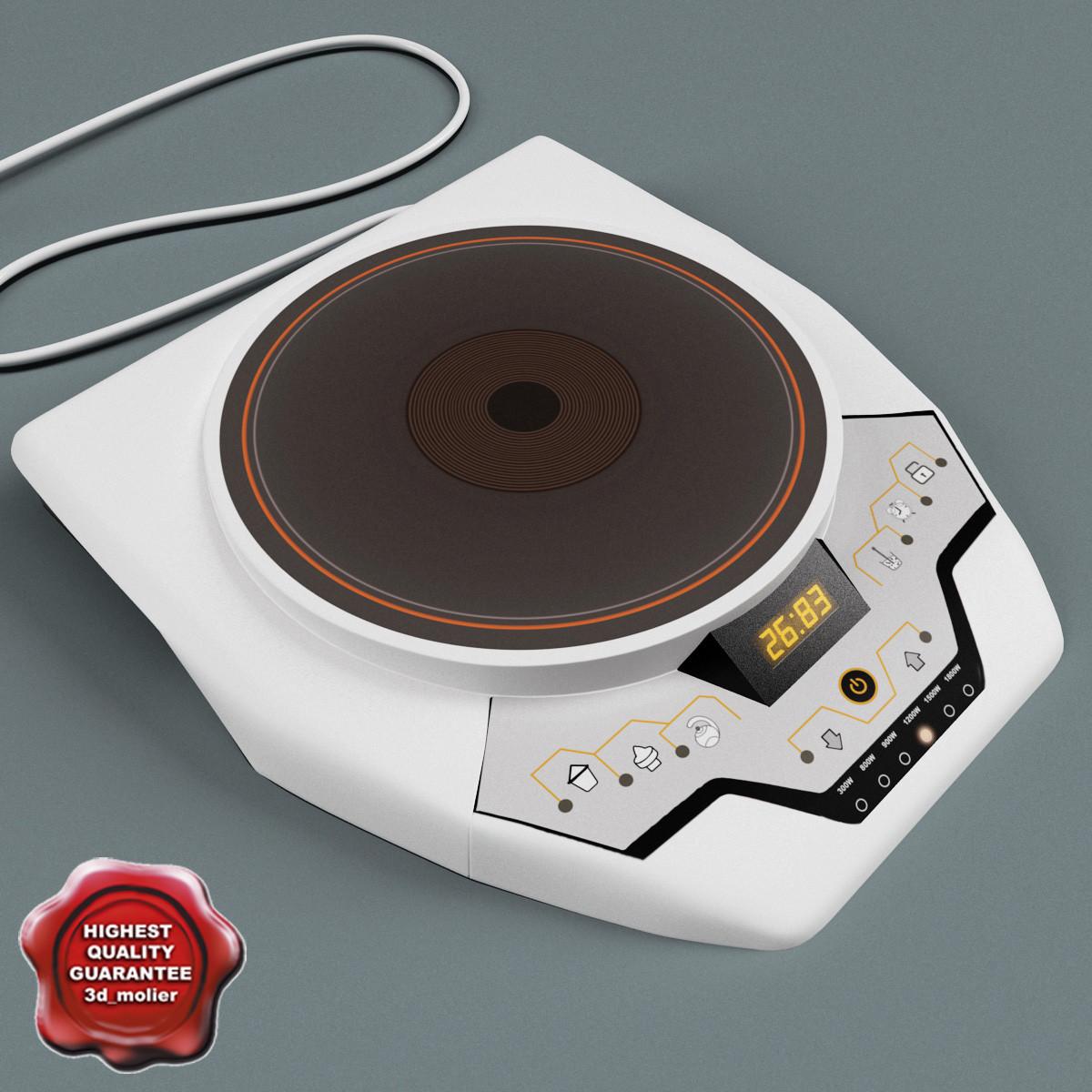 single electric stove 3d model