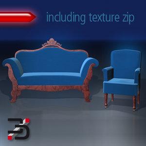 furnishings 3d obj