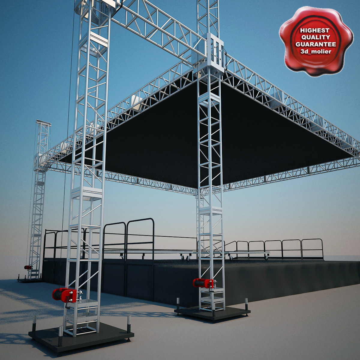 music stage 3d model