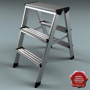 3ds max step ladder