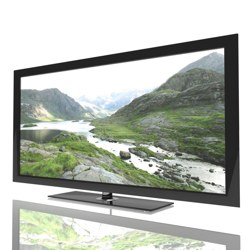 tv hd hdtv 3d model