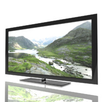 tv hd hdtv 3d model