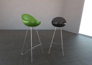 bench stool 3d model