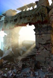 x rubble ruins