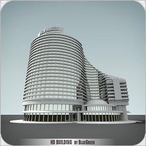 definition building 3d model