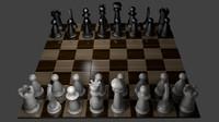 3d chess classic board model