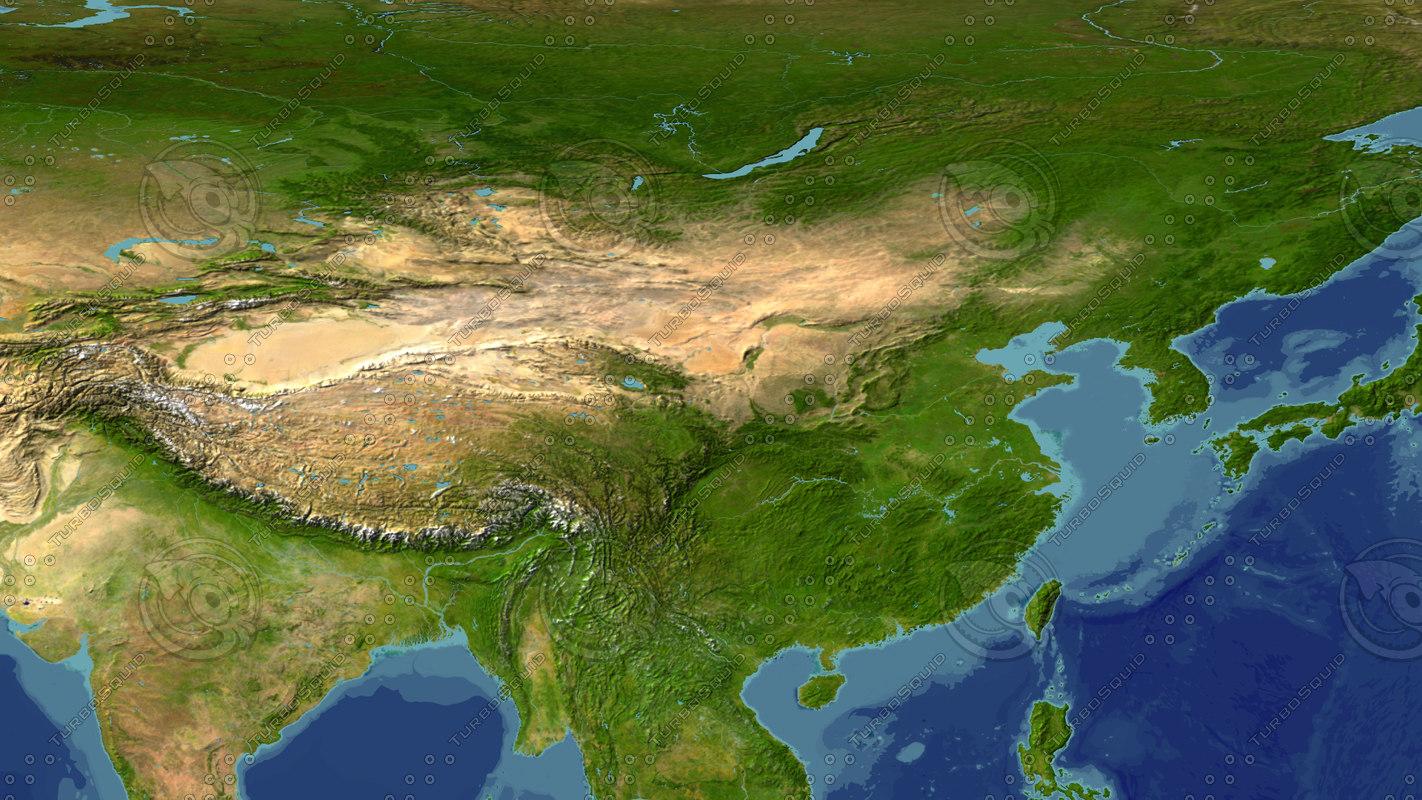 3d china maps model