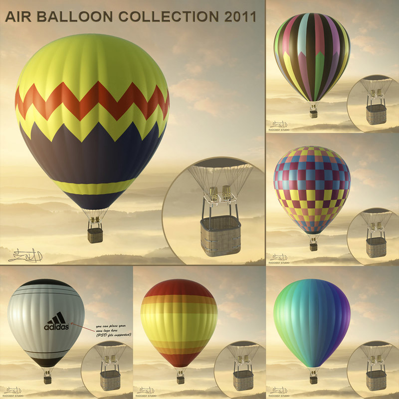 3ds max air balloons resolution