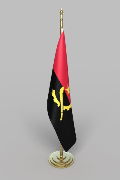 angola flag 3d 3ds