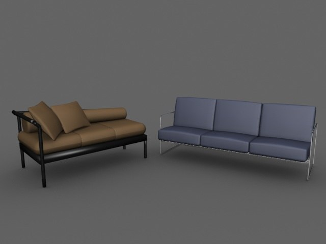 modern couches 3d model