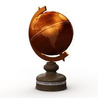 3d model old globe