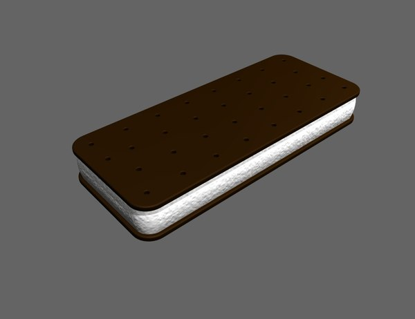 3d model ice cream sandwich