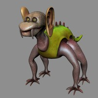 3d monster creature character animal model