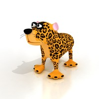 Cartoon Leopard - RIGGED